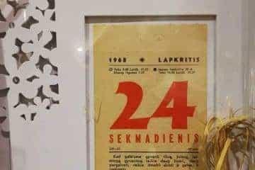 Kalendoriaus lapeliai ivairioms progoms 1953-2020 - 1/6