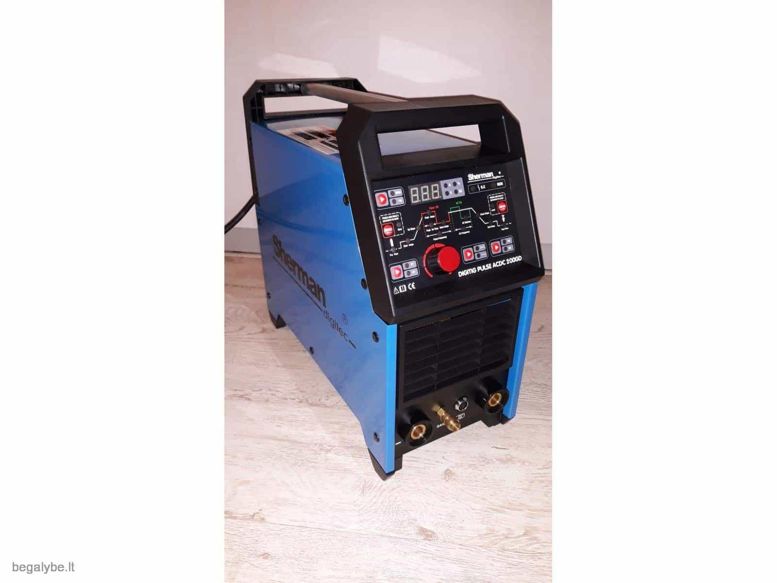 suvirinimo aparatas SHERMAN DIGITIG 200GD AC/DC ALIUMINIUI