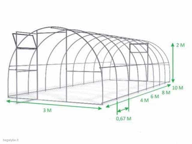 Kokybiškas polikarbonatinis šiltnamis Elite (3x6)