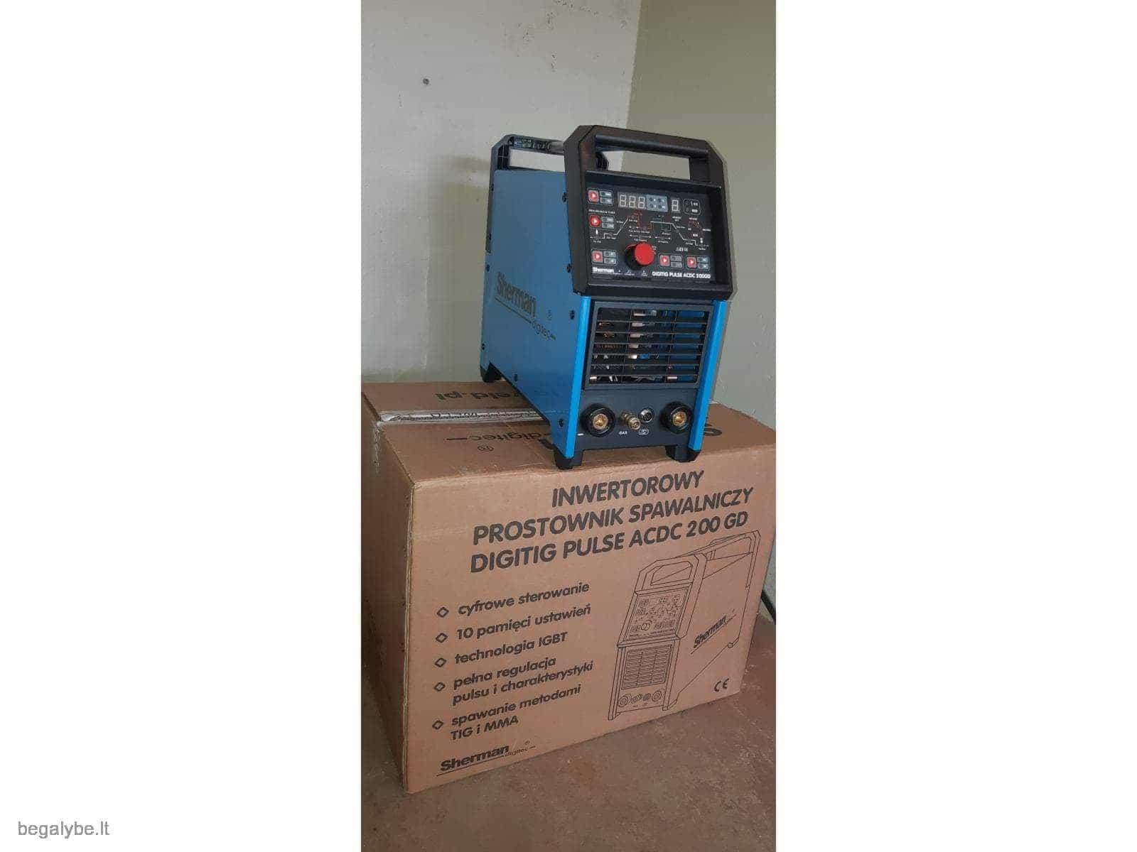 Suvirinimo aparatas SHERMAN DIGITIG  AC/DC 200GD aliuminiui - 2/10