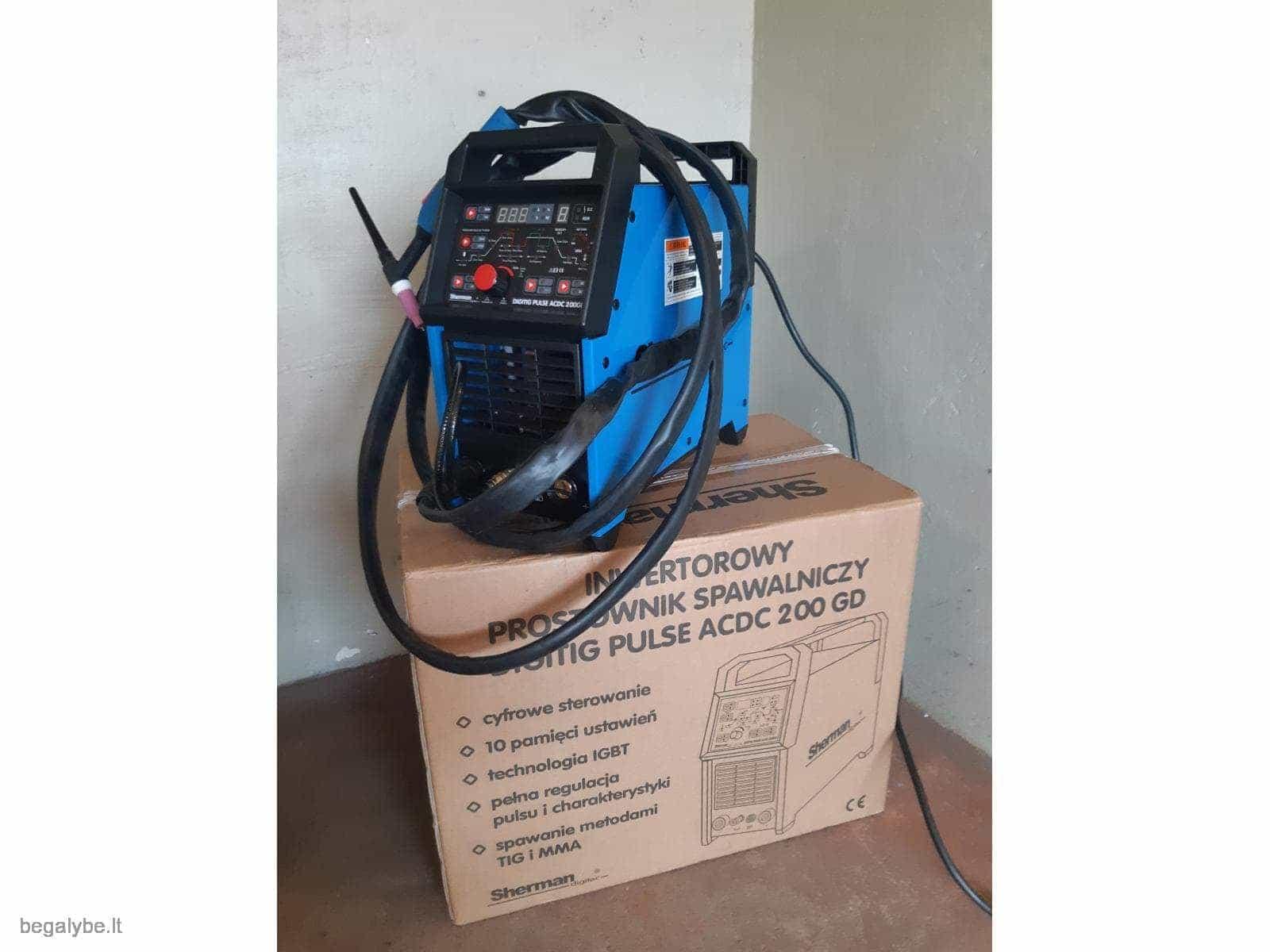 Suvirinimo aparatas SHERMAN DIGITIG  AC/DC 200GD aliuminiui - 5/10