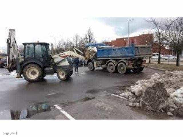 Sniego išvežimas, BOBCAT nuoma Vilniuje