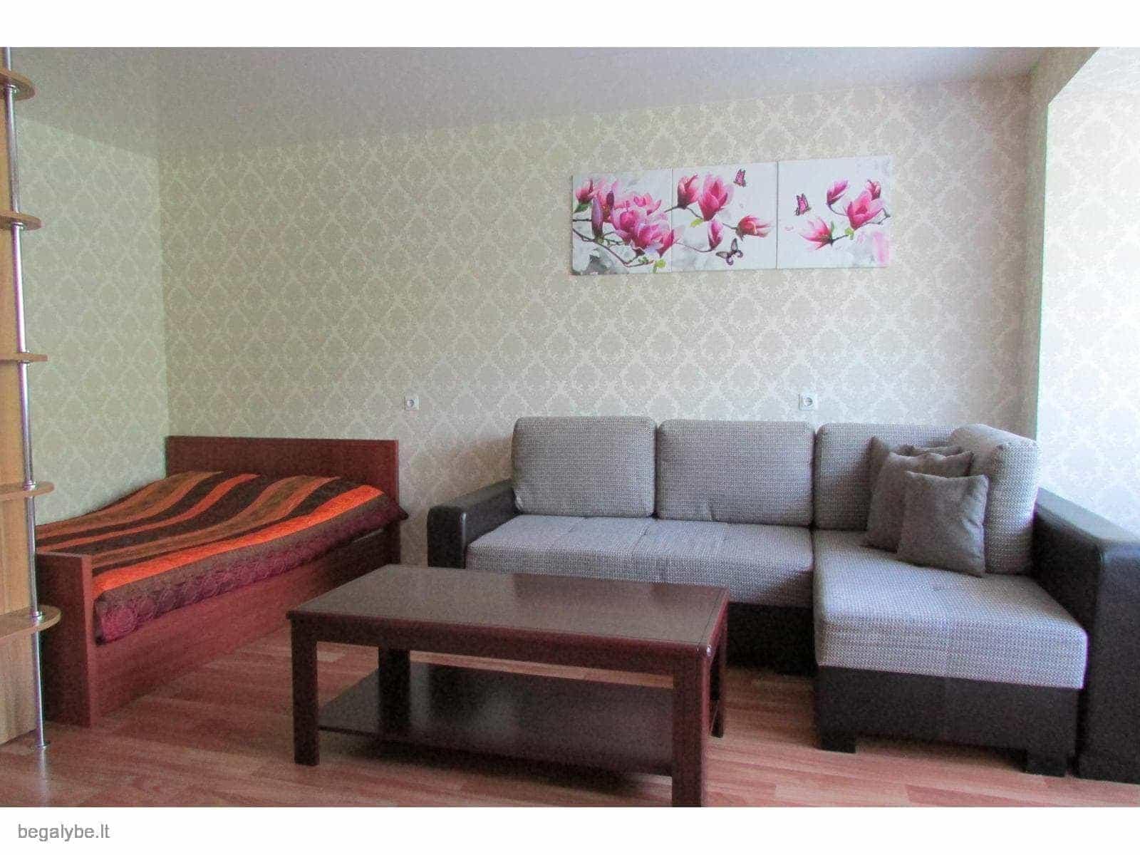 1 kambario apartamentai netoli jūros su terasa