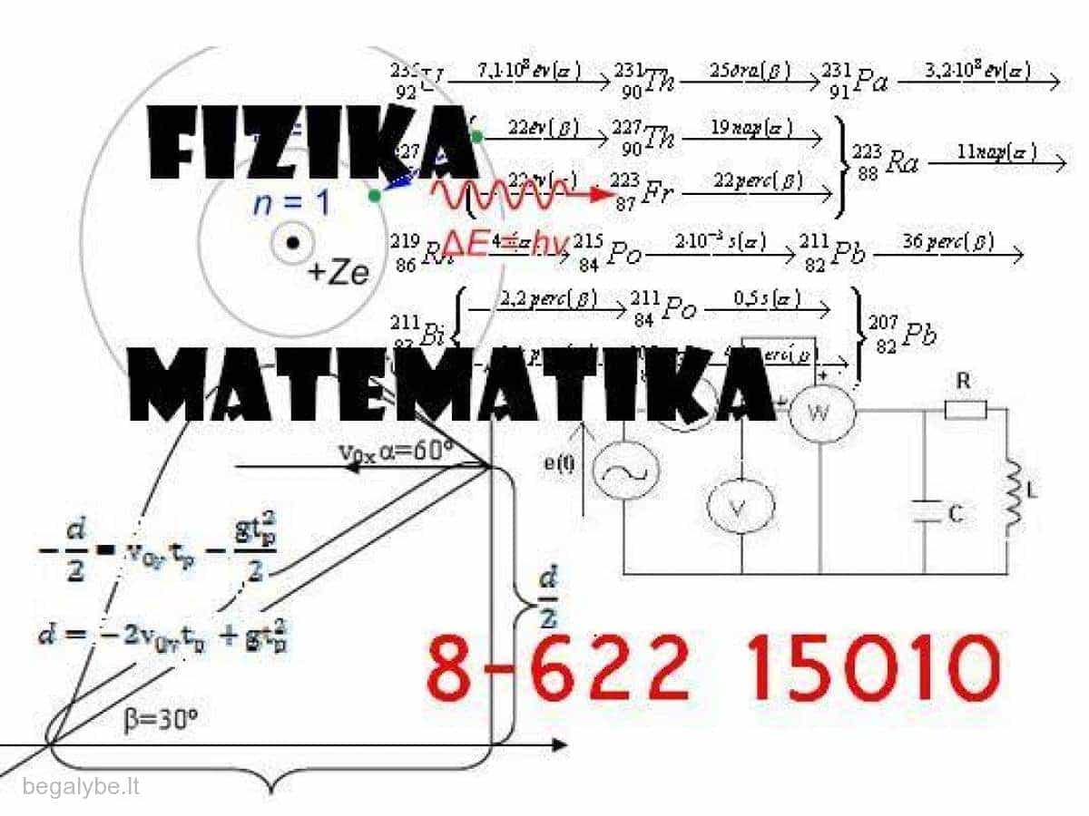 Matematika Fizika Chemija ir kt. - įvairi pagalba studentams