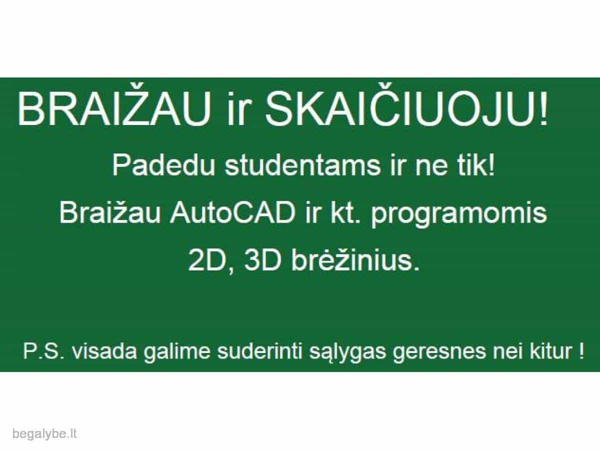 Pagalba studentams ir netik! AutoCAD, Inventor, Revit. - 2/2