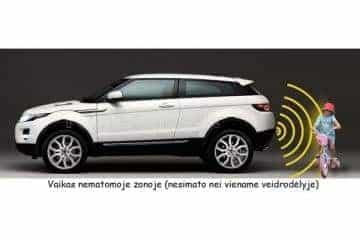 Pmc-190 Parkavimo Sistema Veidrodyje  + Kamera + 4 davikliai - 1/12