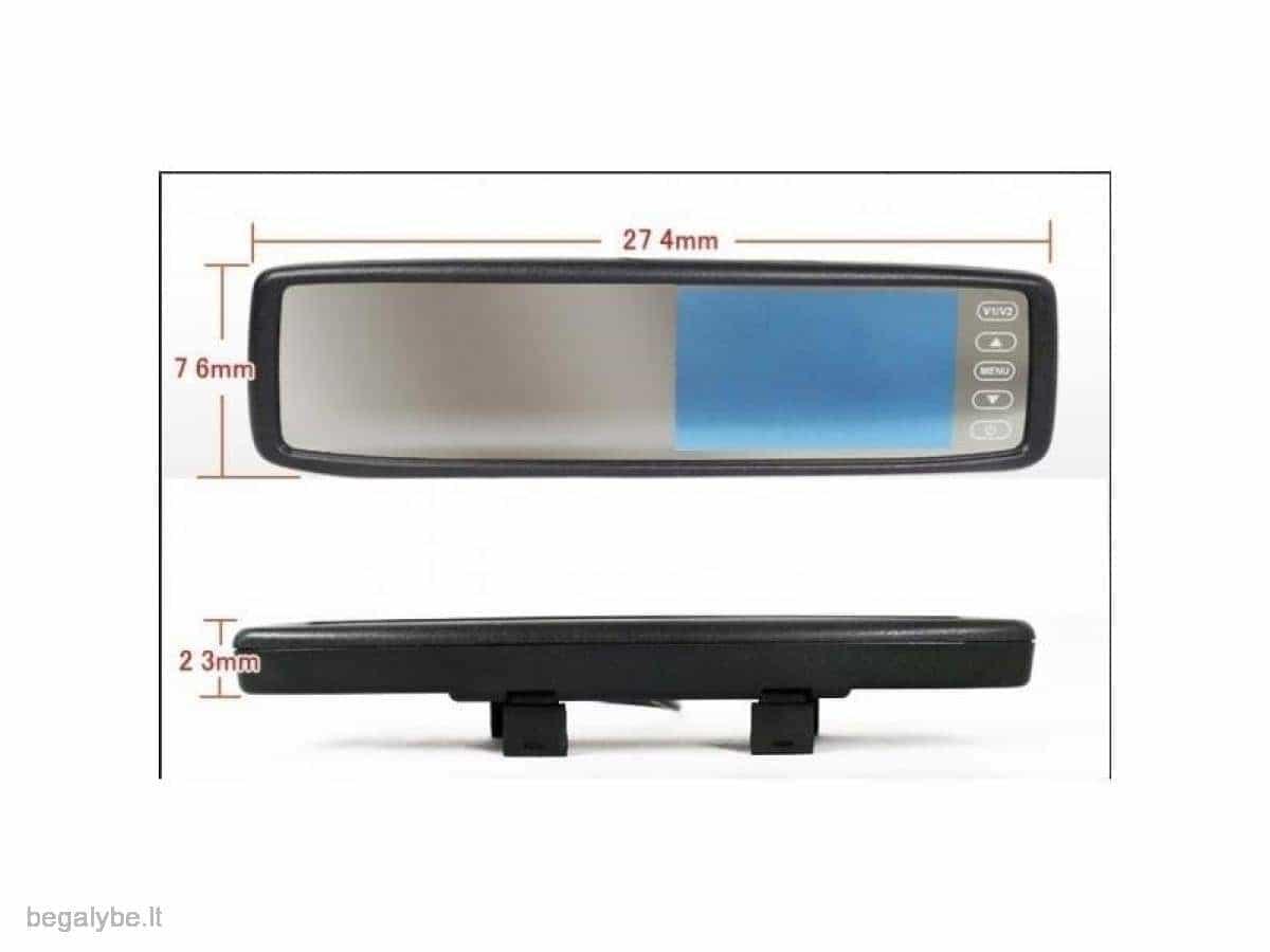 Parkavimo sistema galinio vaizdo veidrodėlyje PMC-240+ 4 davki - 3/13