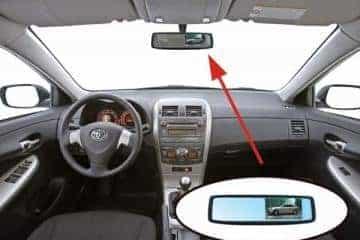 Parkavimo sistema galinio vaizdo veidrodėlyje PMC-240+ 4 davki - 4/13