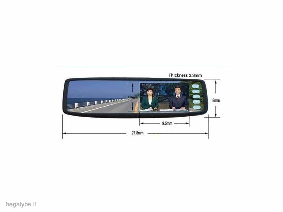 Parkavimo sistema galinio vaizdo veidrodėlyje PMC-240+ 4 davki - 6/13