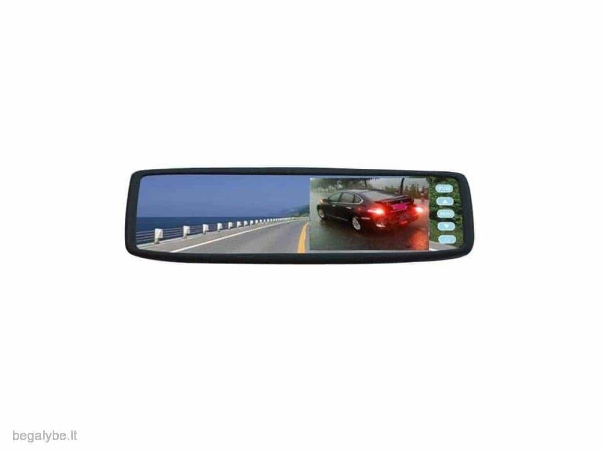 Parkavimo sistema galinio vaizdo veidrodėlyje PMC-240+ 4 davki - 7/13