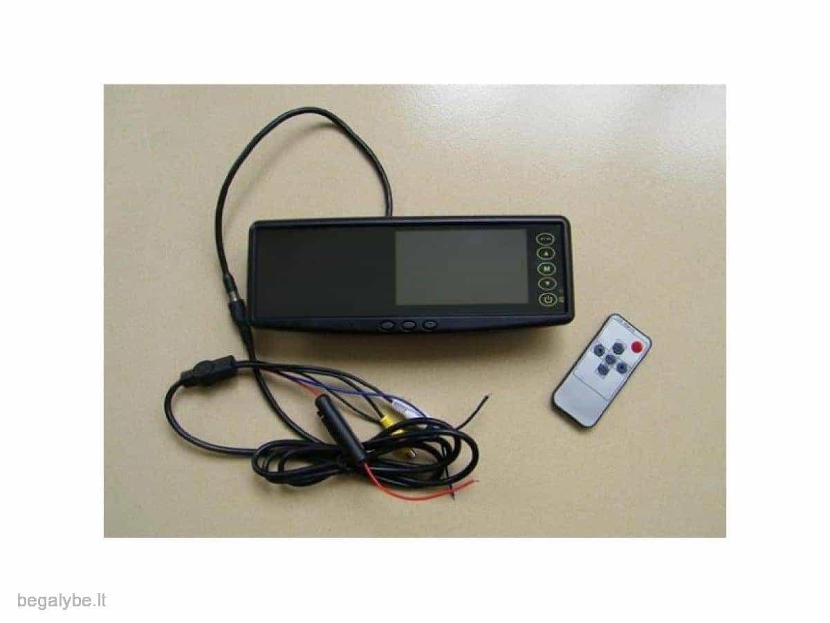 Parkavimo sistema galinio vaizdo veidrodėlyje PMC-240+ 4 davki - 13/13