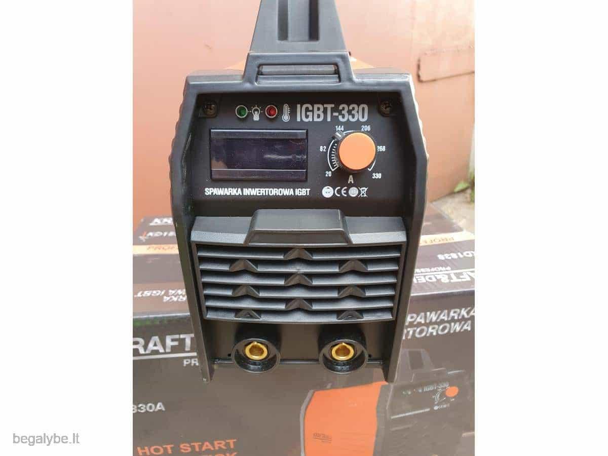 Suvirinimo aparatas Kraftdele-330A - 7/17