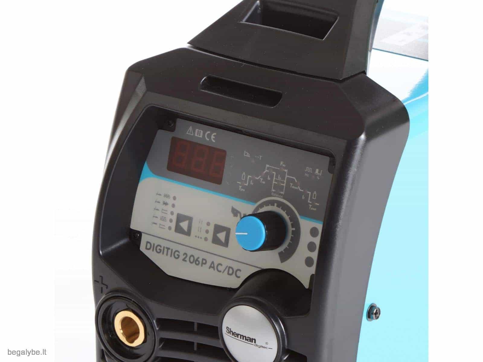 Suvirinimo aparatas sherman digitig ac dc 200GD - 9/19