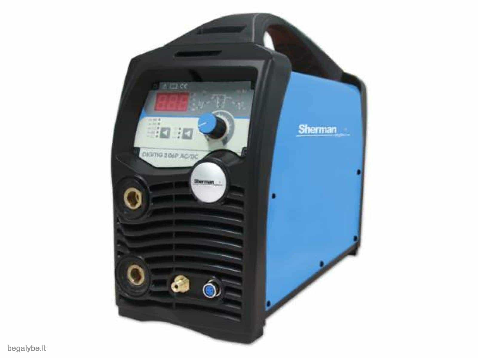 Suvirinimo aparatas SHERMAN DIGITIG 206P AC/DC aliuminiui