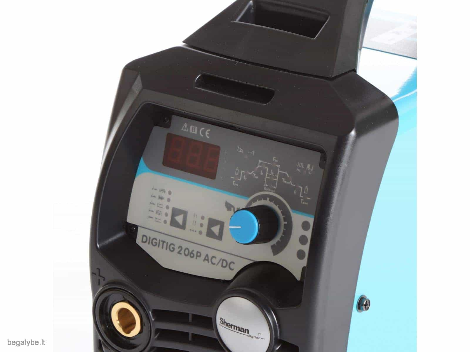 Suvirinimo aparatas SHERMAN DIGITIG 206P AC/DC aliuminiui - 5/9