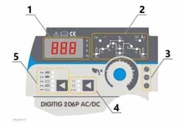 Suvirinimo aparatas SHERMAN DIGITIG 206P AC/DC aliuminiui - 6/9