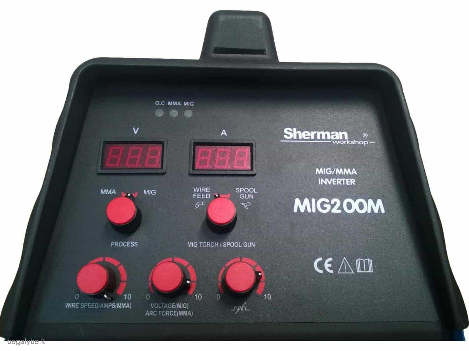 Suvirinimo pusautomatis SHERMAN MIG 200M - 5/10